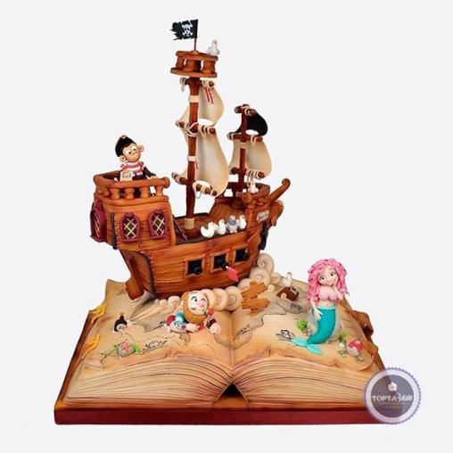 детский торт мы пираты