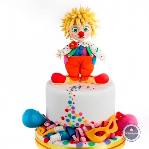 детский торт - клоун клёпа