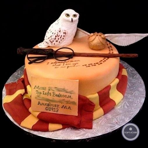 детский торт - умная сова