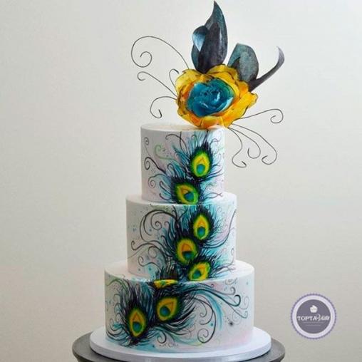 торт для женщин жар птица