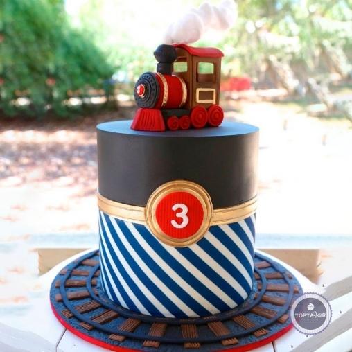 детский торт - паровоз