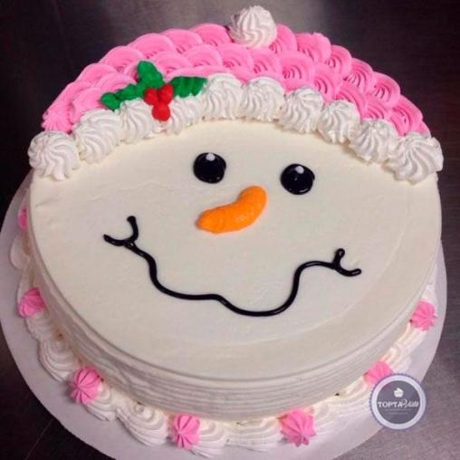 новогодний торт снежный