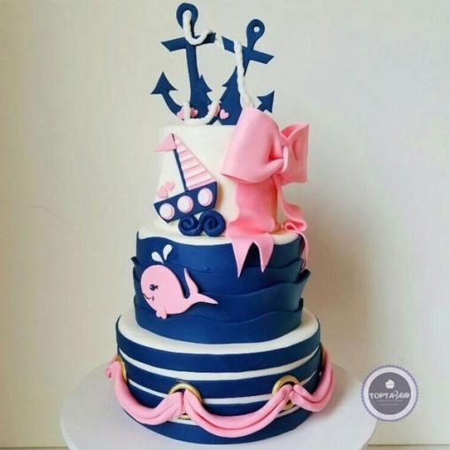 детский торт морской