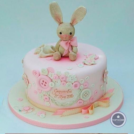 детский торт - зайка