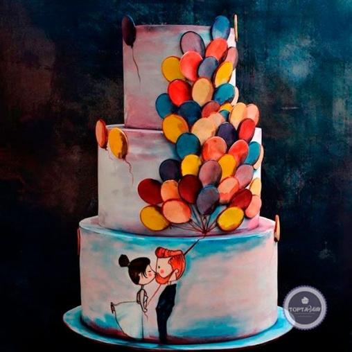 Свадебный торт Магия любви