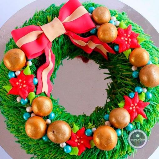 новогодний торт рождество