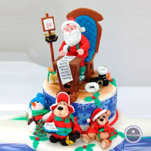 новогодний торт - рождественский