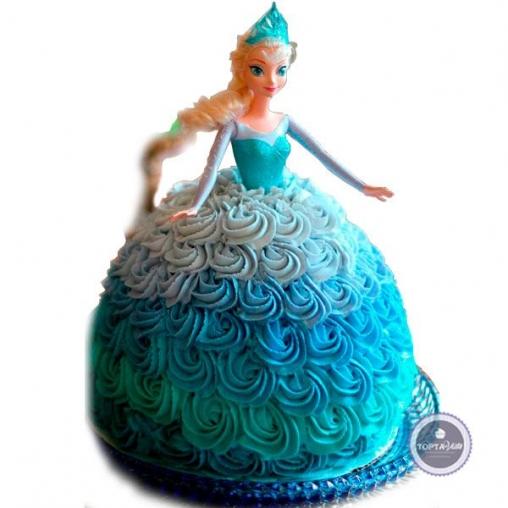 детский торт принцесса эльза
