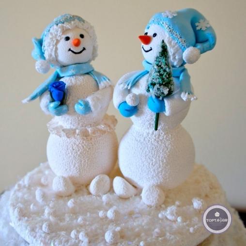 новогодний торт - сладкая парочка