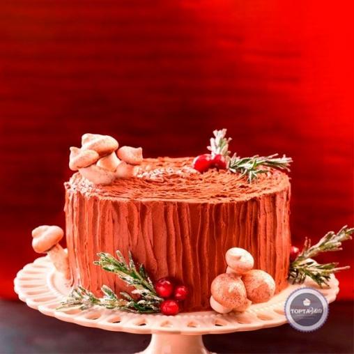 новогодний торт пенёк