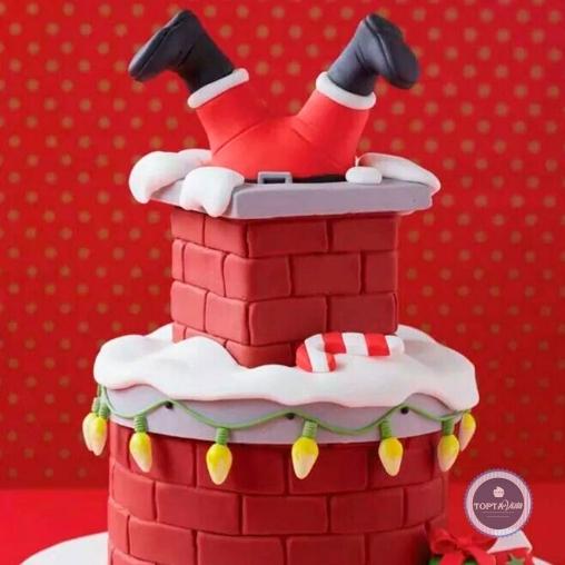 новогодний торт - фонарики