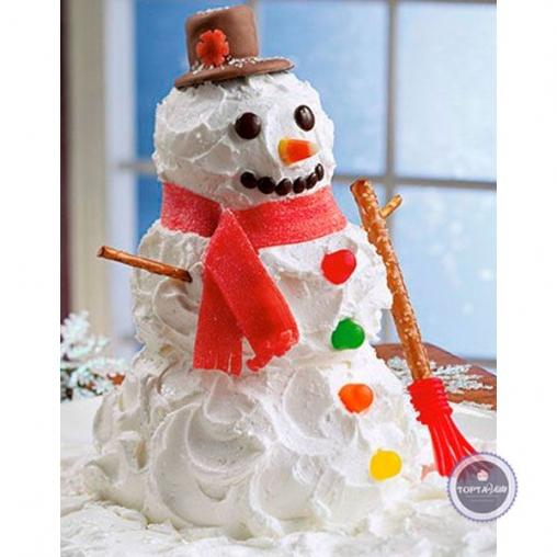 новогодний торт снегозефир
