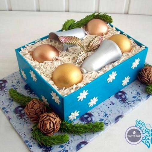 новогодний торт - еловые шишки