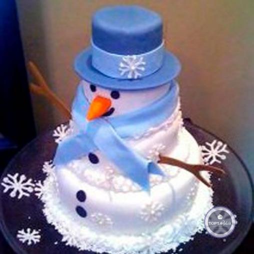 новогодний торт синьор снеговик