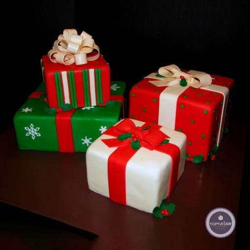 новогодний торт - новогодние подарки