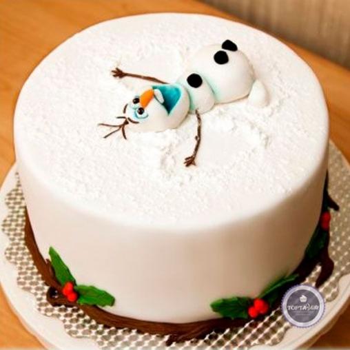 новогодний торт - снегоангел
