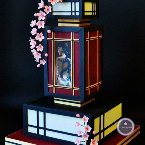 праздничный торт сакура