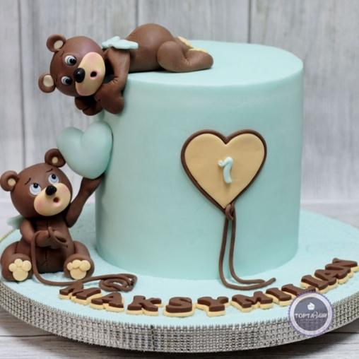 детский торт - мишки братишки