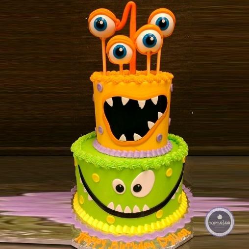 детский торт - монстрики