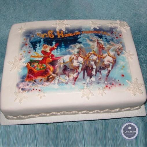 новогодний торт - новогодний