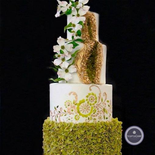 Свадебный торт Нефрит