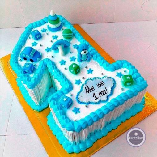 детский торт мне 1 год