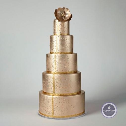 свадебный торт злато