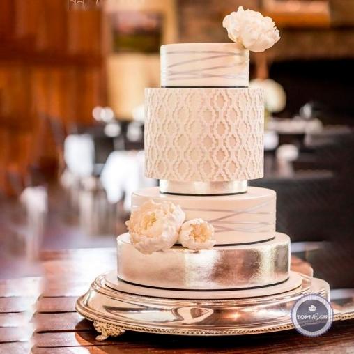свадебный торт - кремовый