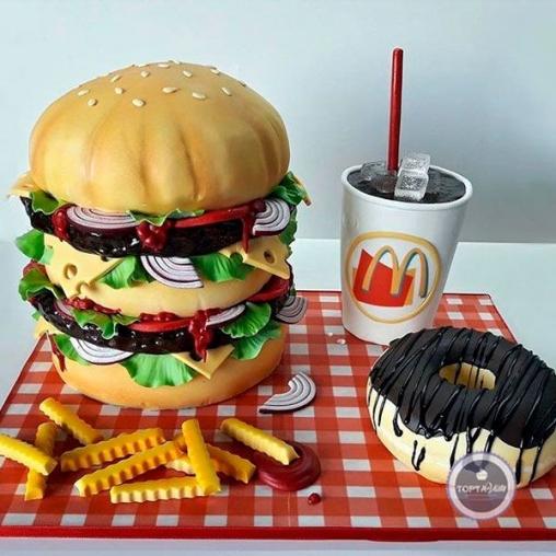 торт для мужчин твой гамбургер