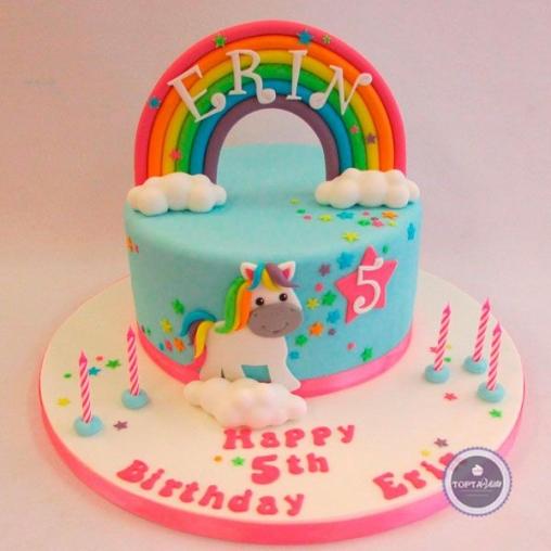 детский торт радуга