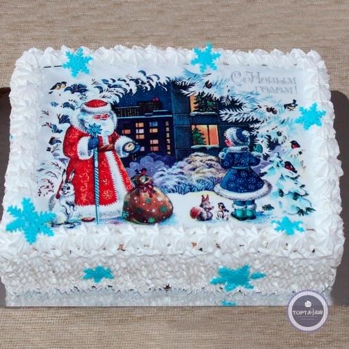 новогодний торт - 5 минут