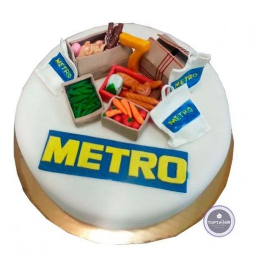 корпоративный торт metro кэш