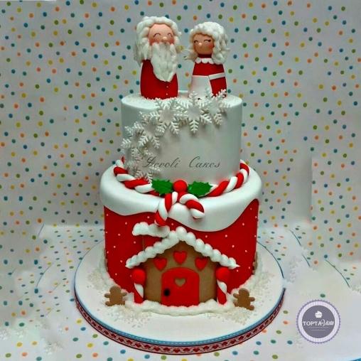 новогодний торт - рождество для друзей