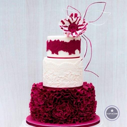 свадебный торт - гипюр