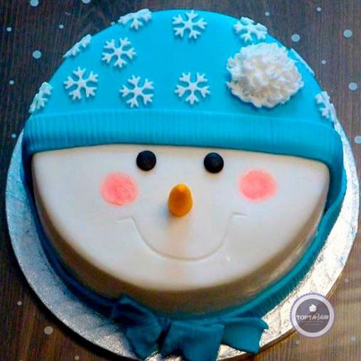 новогодний торт снеговичок