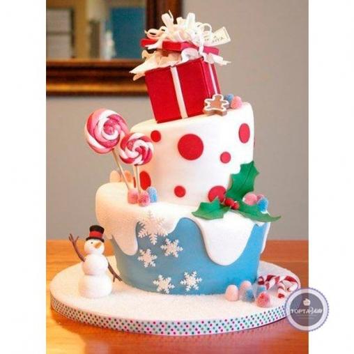 новогодний торт сюрприз