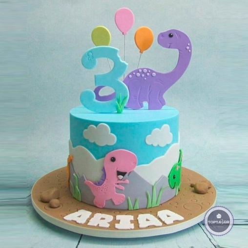 детский торт - дино