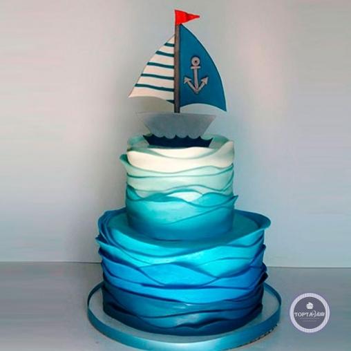 детский торт - яхта беда