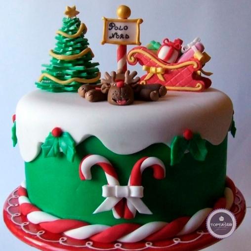 новогодний торт - северный полюс
