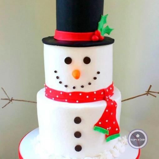 новогодний торт снеговик 2