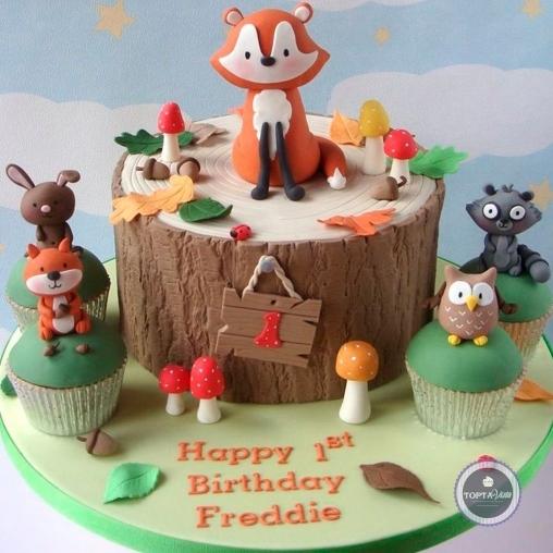 детский торт - добрые друзья