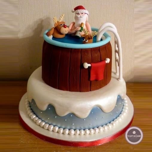 новогодний торт - веселое рождество