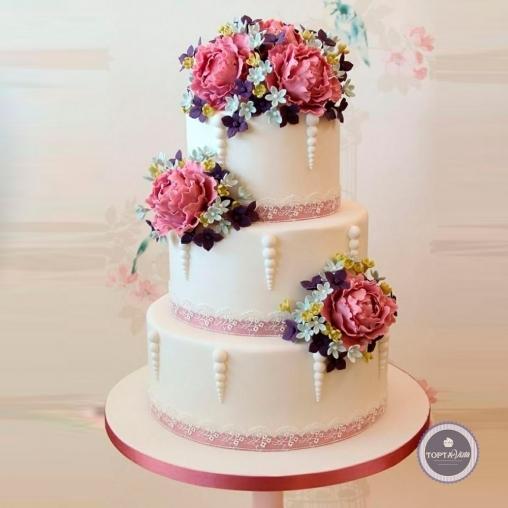 свадебный торт - монпансье