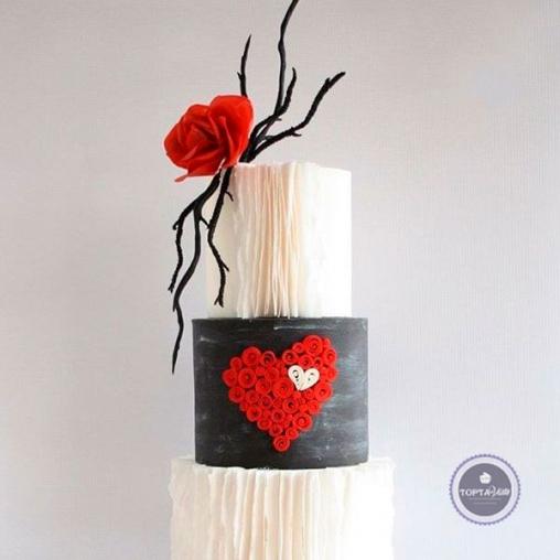 свадебный торт невеста