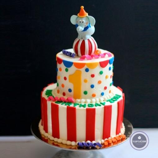 детский торт - цирк приехал