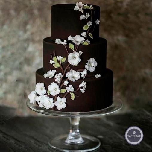 свадебный торт - яблоневый цвет