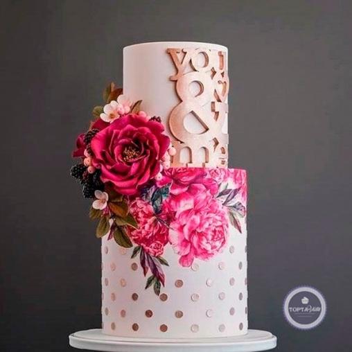 свадебный торт любовь