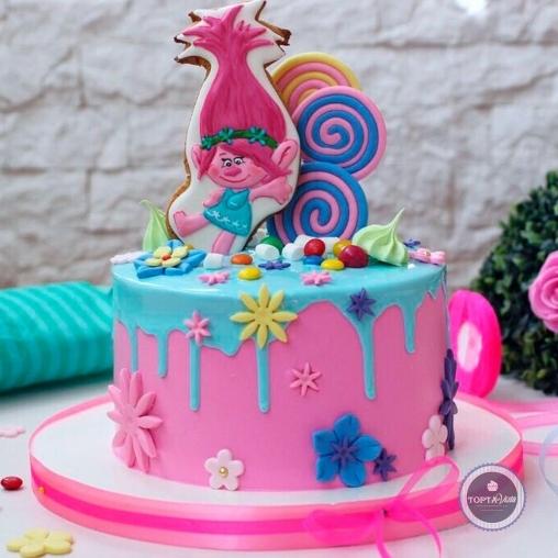 детский торт - розочка
