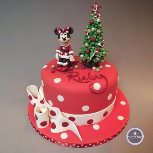 новогодний торт - новогодняя минни