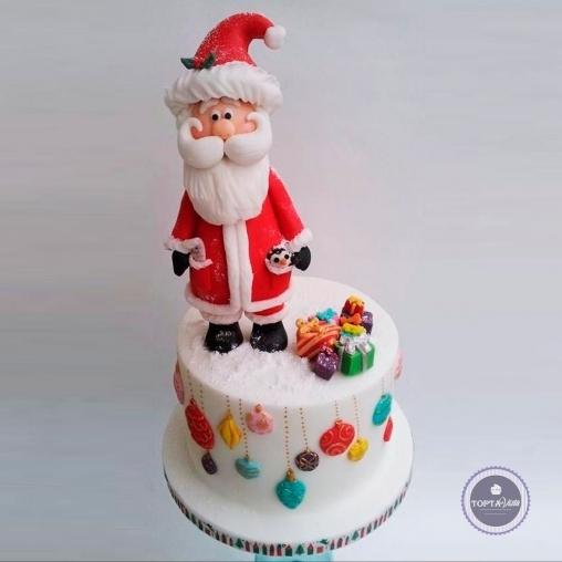 новогодний торт - дедушка санта